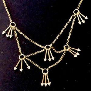 Gold arrows necklace- Banana Republic